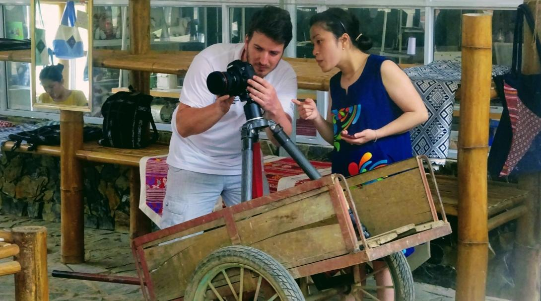 Journalism interns in Vietnam hard at work